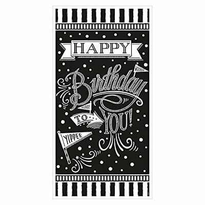 CHALKBOARD Happy Birthday BANNER Scene Setter Party Wall Decoration Sign Dots (Birthday Chalkboard Sign)