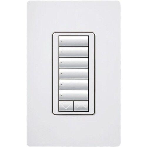 Lutron RRD-W6BRL-WH Standard Switches White