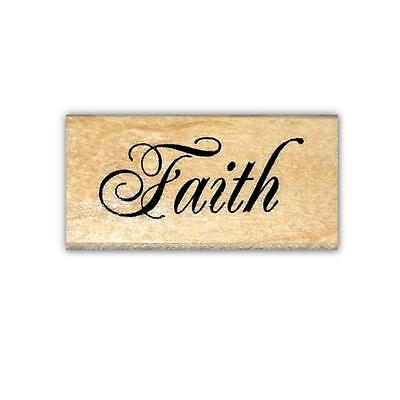 Faith Rubber (Faith mounted rubber stamp, Christian, religious #22 )