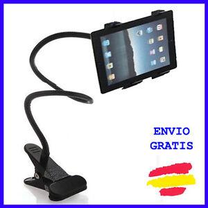Soporte universal para tablet metalico con pinza para mesa - Soporte tablet cama ...