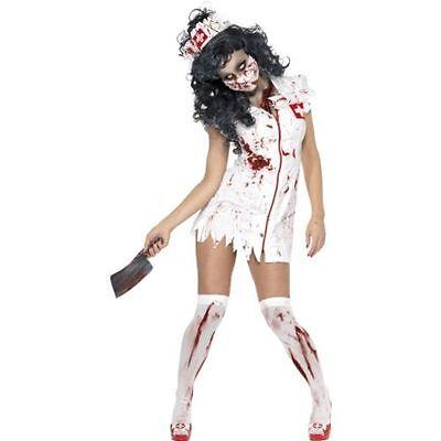 e Nurse Halloween Fancy Dress Costume Horror Living Dead Fun (Living Dead Girl Halloween-kostüme)