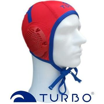 Turbo Waterpolo Cap Classic Professional Keeper Red Blue 1