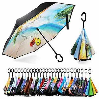 Spar. Saa Double Layer Inverted Umbrella with C-Shaped Handle Anti-UV Waterpr...