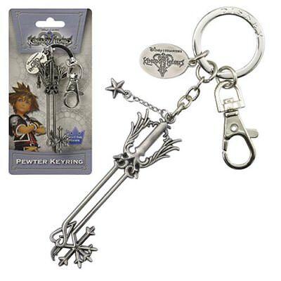 Disney NEW * Oathkeeper Key Chain * Kingdom Hearts Pewter Metal Keychain Clip