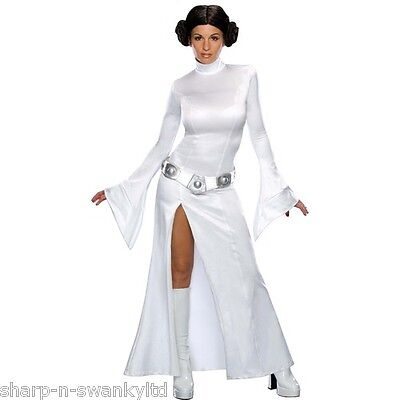 Ladies Sexy Princess Leia Star Wars + WIG Book Day Fancy Dress Costume Outfit (Sexy Star Wars Outfits)