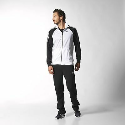 Adidas Riberio Track Suit (Medium) White / Black S22613