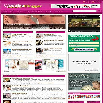 Established Wedding Affiliate Website Turnkey Business For Sale Free Hosting