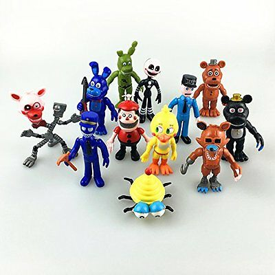 12X Five Nights At Freddys Fnaf Game Action Figures Toys Dolls 4Inches Us Stock