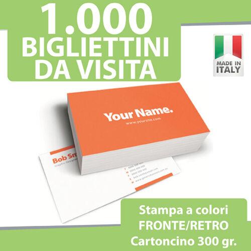 1000 BIGLIETTI DA VISITA STAMPA FRONTE RETRO COLORI 300gr Bigliettini Stampati