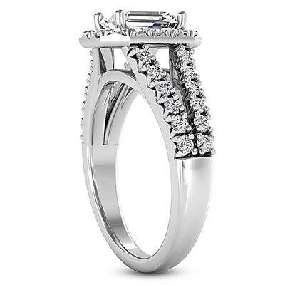 Diamond Engagement Ring 2.70 Carat VS2/F Emerald Cut 14k White Gold 2