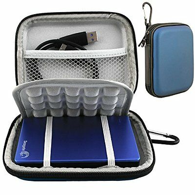 Lacdo Waterproof Hard EVA Shockproof Carrying Case for Seagate Backup Plus Slim
