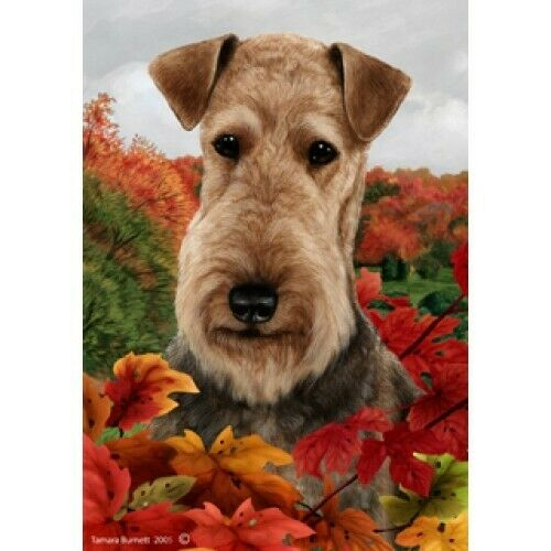 Fall House Flag - Airedale Terrier 13027