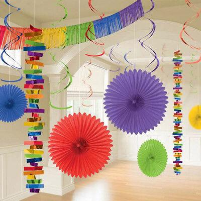 RAINBOW DELUXE ROOM DECORATING KIT (18pc) ~ Wedding Birthday Party -