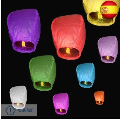 10 pcs Cielo Lanterns colores mixtos farolillos chinos voladores (10 farolillos)