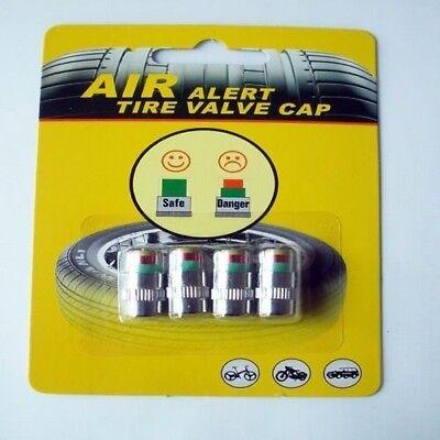 4 PCs 2.4 Bar Car Safety Warning Tire Air Pressure Monitor Indicator Valve Cap