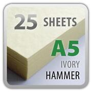 A4 Ivory Hammered Card