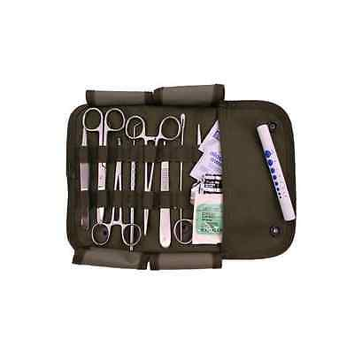 FIRST AID SURGICAL KIT WITH MILITARY MOLLE COMPATIBLE POUCH- OLIVE DRAB- STOCKED