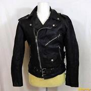 Mens Vintage Leather Biker Jacket