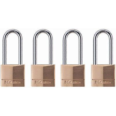 Master Lock 140qlh Keyed-alike Wide Padlocks Solid Brass 1-916-inch