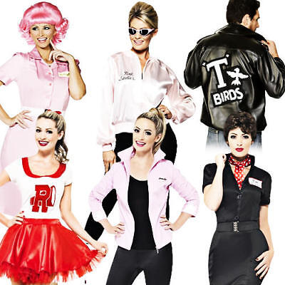 Grease 1950s Adult Fancy Dress Fifties Movie Character Mens Ladies 50s Costume (Grease Movie Fancy Dress Kostüme)