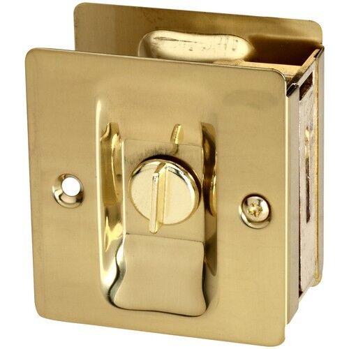 Stanley-National Hardware Classic Solid Brass Pocket Door Latch V1951