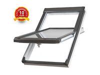 2 Brand New Sunlux White PVC 78x118cm Rooflight Windows & Tile Flashing in boxes, like Velux Fakro