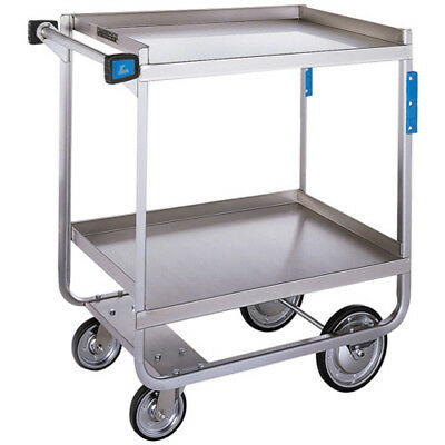 Stainless Steel Utility Cart 700 Lb. Cap. Two 15.5wx24d Shelves Nsf Listed