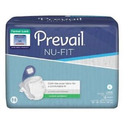 First Quality Nu-Fit Adult Brief Diaper, LARGE, #NU-0131 - Case of 72 ()
