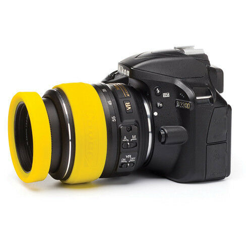 easyCover Lens Rims 58mm Lens Yellow Lens ring and bumper protective skin