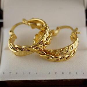9ct Gold Hoop Earrings New