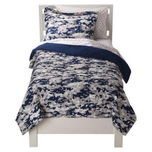 Blue Camo Bedding Ebay