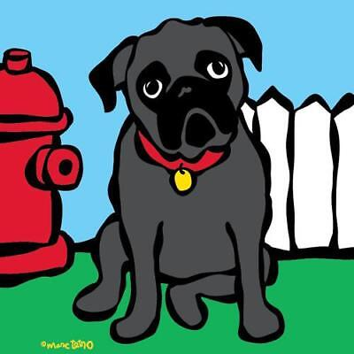Marc Tetro Black Pug Print 8 x 10 Artwork Art ready to...