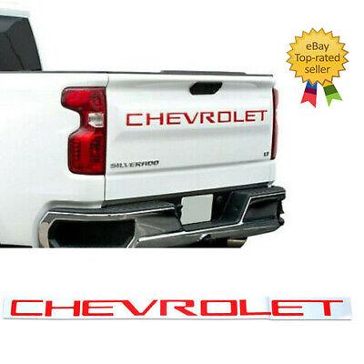 Red Tailgate Letters 2019 2020 Chevrolet Silverado Plastic Inserts 2500 3500