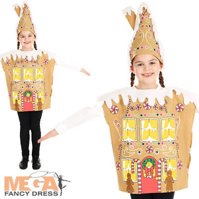 Gingerbread House Kids Fancy Dress Christmas Xmas Food Boys Girls Childs Costume - Gingerbread Boy Costume