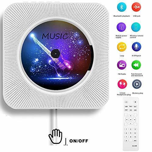 AONCO Portable CD Player, Bluetooth Wall Mountable CD Music