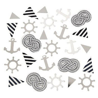 Nautical Baby Shower Confetti Birthday Party Supplies Decorations Ahoy Anchor (Ahoy Baby Shower Decorations)