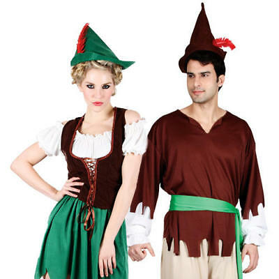 Robin Hood Costume + Hat Medieval Halloween Book Week Fancy Dress Character (Robin Hood Kostüme Hat)
