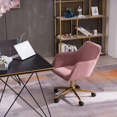 Velvet Modern Leisure Living Room Swivel Chair Gaming Study Desk Chair W Wheels