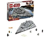 LEGO Star Wars The Last Jedi 75190 First Order Star Destroyer Toy NEW Full Set