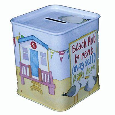 Nautical Piggy Bank (Day at the Seaside Money Box - Beach Sea Nautical Design Piggy Bank Coins )