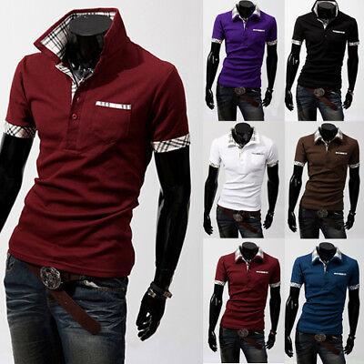 New Fine Design Mens fashion print polo-Shirts Cotton Short Sleeve Shirts 2019