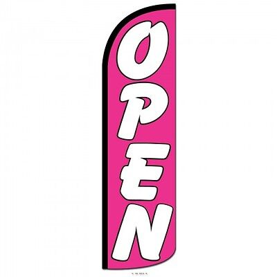 Open Swooper Flag Only Windless 3 Wide Sign Banner Pink White