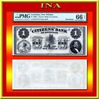 PMG $1 US Confederate Currency