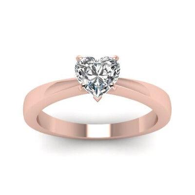 Verlobungs Ring Solitär Diamant Ring 0.50 ct. Herz 18K Roségold + GIA Zertifikat Solitär-diamant-ring Gia
