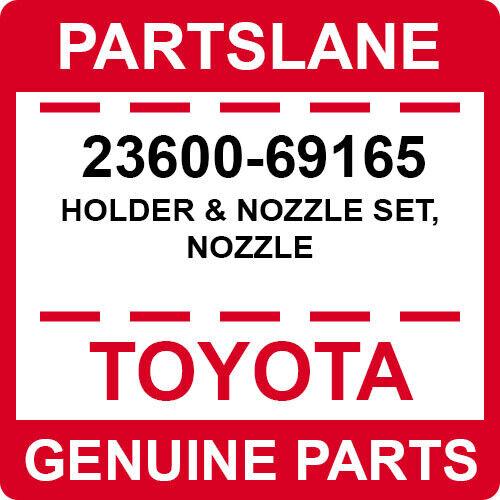 23600-69165 Toyota Oem Genuine Holder & Nozzle Set, Nozzle