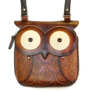 Leather Owl Purses