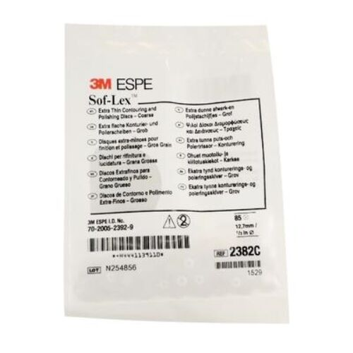 "3M SOF-LEX SOFLEX COARSE 1/2"" 2382C 85/PACKAGE COUNTOURING & POLISHING DISC"