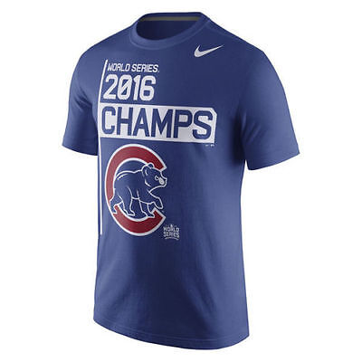 Chicago Cubs Nike MLB 2016 World Series Champions Men's T-Shirt - Size: XL