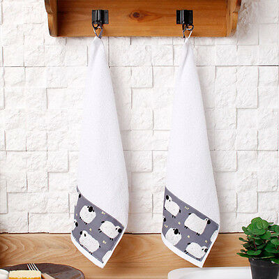 Gray sheep 2 PCS x kitchen towel hand towels dish towels hanging kithcen towels