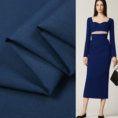 Silk cotton blended fabric pure deep blue very thick 48momme thickness,SCT408